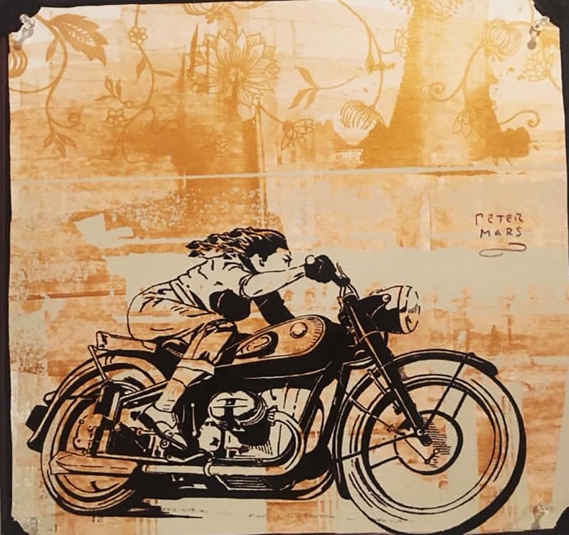 Peter Mars girl on bike